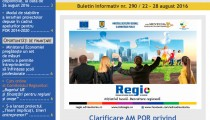 A apărut buletinul informativ InfoRegional Sud Muntenia nr. 290!