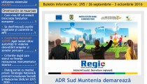 A apărut buletinul informativ InfoRegional Sud Muntenia nr. 295!