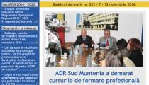 A apărut buletinul informativ Info Regional Sud Muntenia nr. 301!