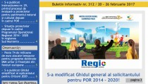 A apărut buletinul informativ Info Regional Sud Muntenia nr. 312!