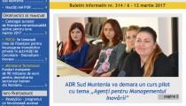 A apărut buletinul informativ Info Regional Sud Muntenia nr. 314!