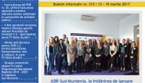 A apărut buletinul informativ Info Regional Sud Muntenia nr. 315!