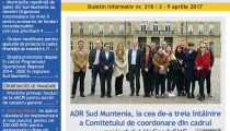 A apărut buletinul informativ Info Regional Sud Muntenia nr. 318!