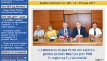 A apărut buletinul informativ Info Regional Sud Muntenia nr. 329!