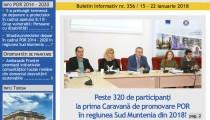 A apărut buletinul informativ Info Regional Sud Muntenia nr. 356!