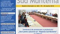 A apărut buletinul informativ Info Regional Sud Muntenia nr. 365!