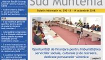 A apărut buletinul informativ Info Regional Sud Muntenia nr. 390!