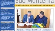 A apărut buletinul informativ Info Regional Sud Muntenia nr. 398!
